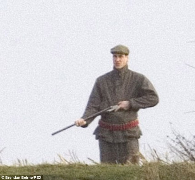 Prince William has been shooting boar on a private estate in Cordoba, Spain. Here he is engaging in the pastime at Sandringham in December 2005