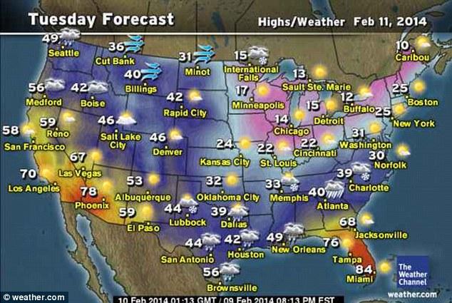 Oklahoma Snow Forecast Map