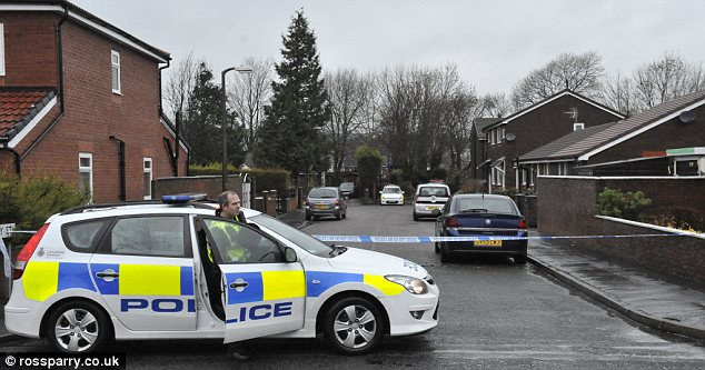 Tragic: A child has died after being mauled by a pet dog at a house in Emily Street in Blackburn, pictured