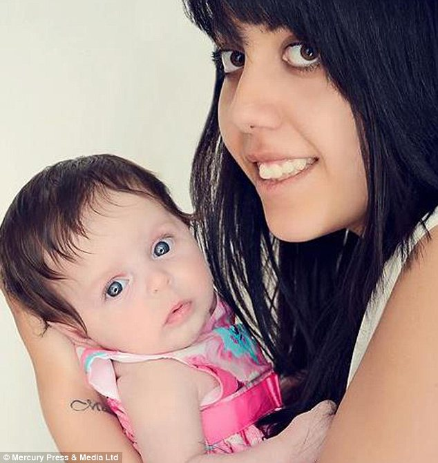 Parent: Ava-Jayne with her mother Chloe King, who has been arrested over the girl's death