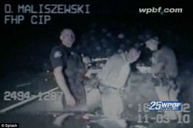 Caught on camera: A video was released after David's 2010 arrest for DUI in Florida