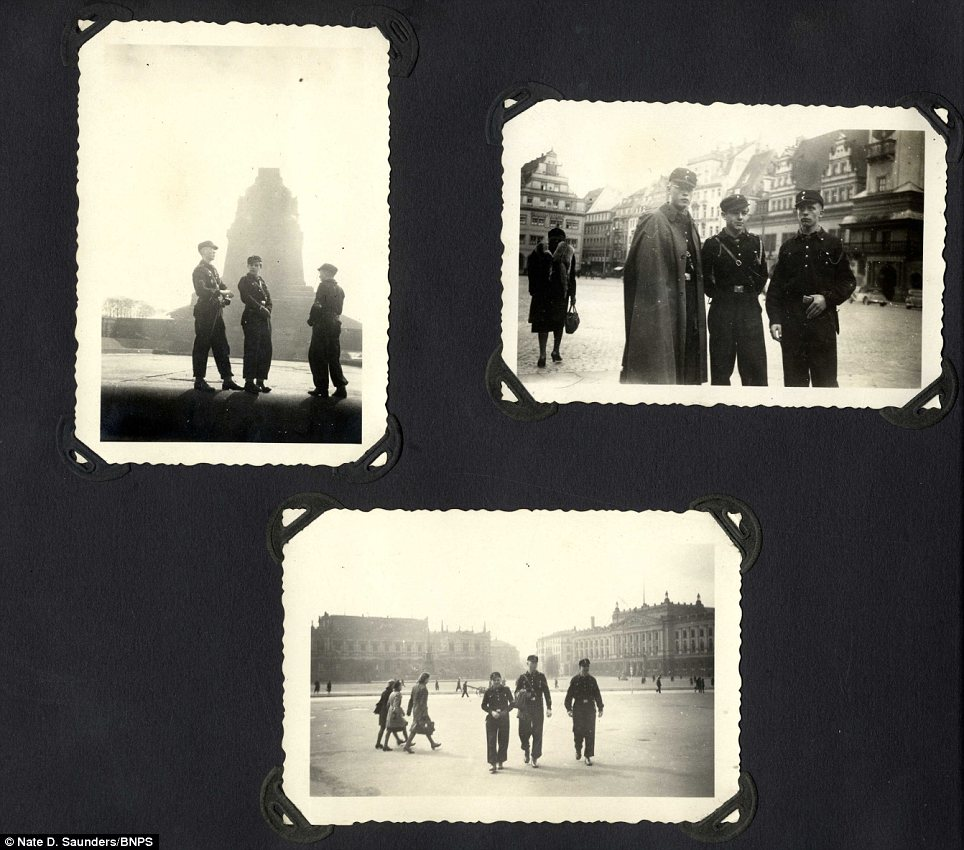 Outing: Other images appear to show the Hitler Youth outside the setting of the camp on a visit to a city