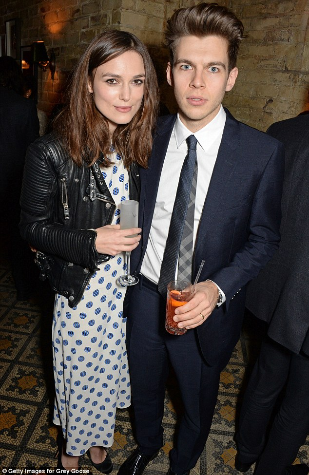 Hot couple: Keira and James Righton married in a small ceremony last year and look very much in love