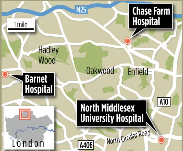 Dangerous situation: Nick de Bois, Tory MP for Enfield North, said: 'Before Chase Farm A&E closed we were repeatedly told that capacity at Barnet would not be an issue. These early indications suggest that clearly they cannot. I have always said the downgrade was the wrong decision'