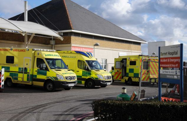 Struggle: Doctors at Barnet Hospital were forced to declare an 'internal emergency' shutting their doors to ambulances after being swamped by patients