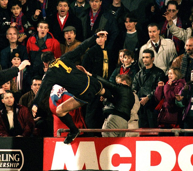 Eric cantona lunges into the crowd with his infamous 'kung fu kick'. Disgrace! United fans' proposed tribute to Cantona slammed ...