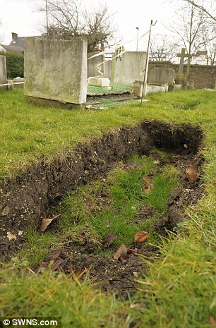 The cemetery in Gravesend where the grave plots have started sinking