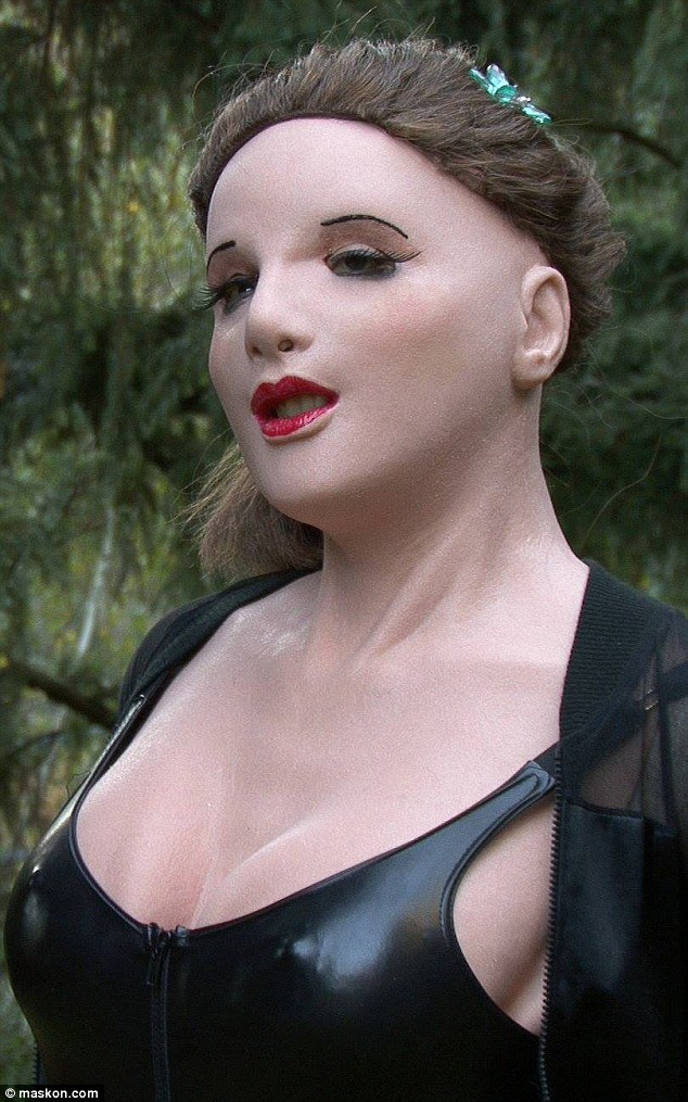 Plastic fantastic: The 'Jessica' full head and torso silicone mask with foam breast inserts costs $600