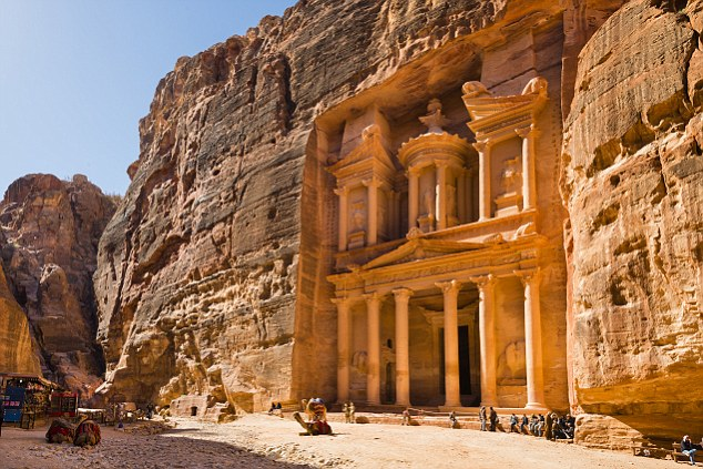 'Half as old as time': The Treasury in Petra, carved out of the rose-colouredrock