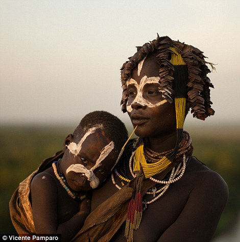 They also adorn themselves in colourful beads