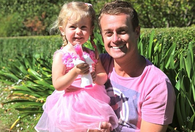 United front: Grant Denyer posted a snap with daughter Sailor to thank friends and fans for their support amid allegations by Woman's Day this week that he and his wife have been seeking treatment for drug addiction