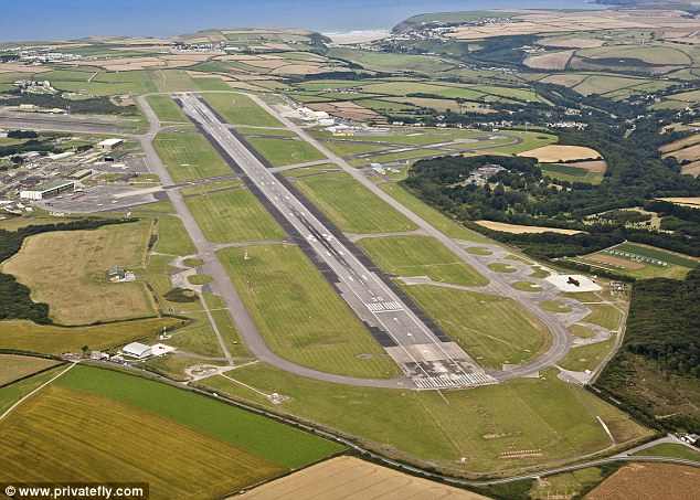 Newquay's airport is virtually on the Cornish coast giving passengers perfect views of the sea and beautiful beaches