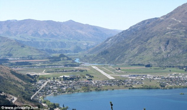 Queenstown Airport, New Zealand,  provides views of 'Pure nature, mountains, hills and sea'. Bill Prince said: 'Incredible approach in the shadow of the peaks with a view seemingly all the way to Milford Sound. Truly an arrival of a lifetime'