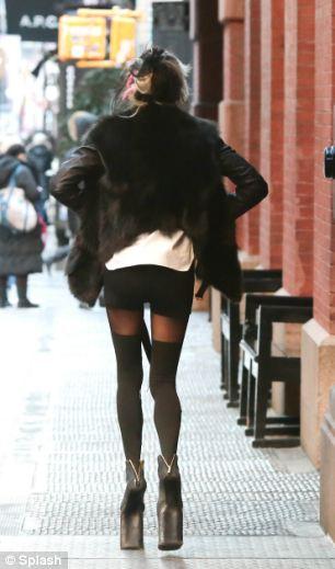 Daphne Guinness Totters In Huge Platform Heels On Streets