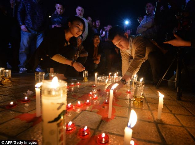 More than 130 people were injured in the frenzied attack last night, which has left China shaken