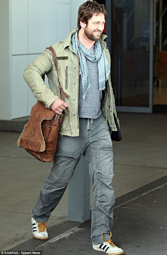 Gerard Butler Looks Ready For The Wild As He Lands In