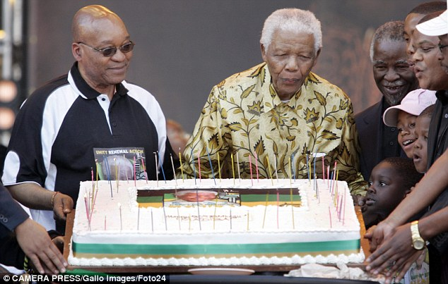 Tensions: Many South Africans are angry at the current government when compared with Mandela's ideals