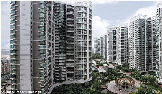 Rapidly expanding: Kei owns an 85 per cent stake in Chinese real estate company Logan Property Holdings. Above, one of Logan's apartment complexes in the southern Chinese city of Shenzhen - where they are headquartered