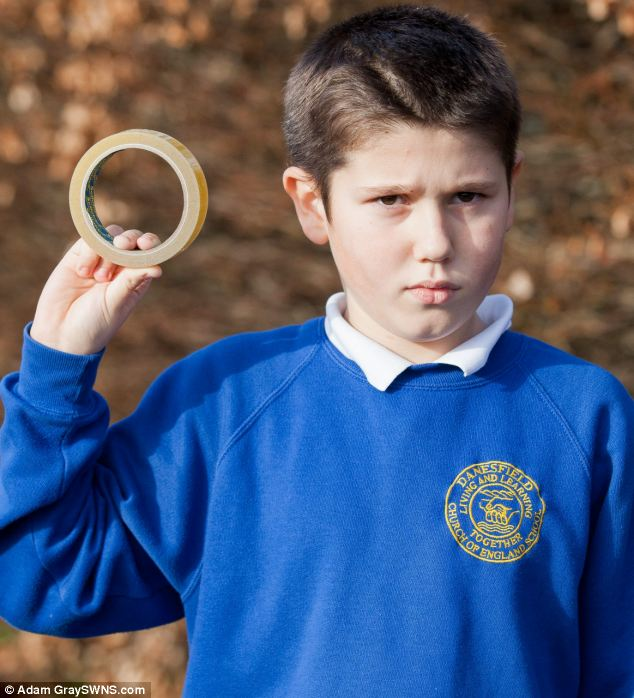 Pupil Thomas Bradbury said some pupils had rashes after the sellotape placed over their mouths to keep them quiet was torn off