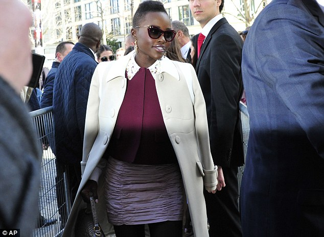 Centre of attention: Lupita's impeccable fashion sense and acting prowess have made her famous in both fields