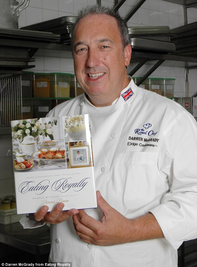 Darren McGrady, who worked for Queen Elizabeth II in Buckingham Palace for 11 years before becoming Diana's personal chef at Kensington Palace, has published a book about his time serving the royals