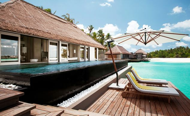 Luxury villa: The five star Cheval Blanc Randheli Hotel on Noonu Atoll, where the Duke and Duchess are staying