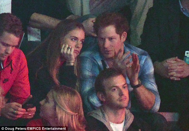 Enjoying the conversation, Cressy? The 24-year-old didn't always look gripped as she listened to Harry's thoughts