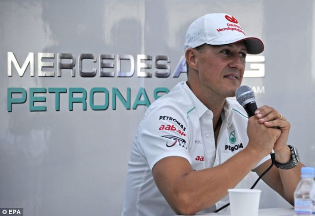 This week was a vital one for Schumacher - two months into his coma, doctors were hoping for a sign that he was aware of his environment (2012 file picture)