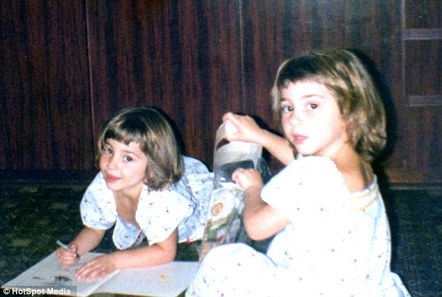 Anna, left, and Lucy, right, pictured aged five