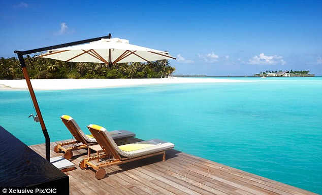 Paradise: Hotel Cheval Blanc in the Maldives where the royal couple are enjoying a romantic break