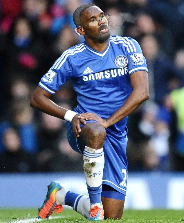 Old on a minute: Sportsmail predict how Chelsea striker Samuel Eto'o may look like when he's older