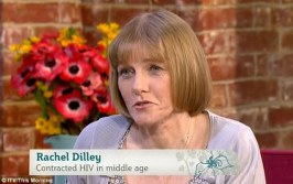 Unwell: Ms Dilley said that a few months after finishing a relationship, she felt like she had 'a severe bout of the flu' - and was eventually urged to take an HIV test