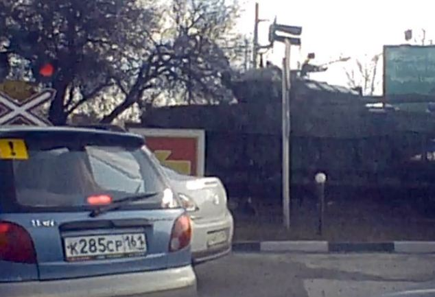 Tanks at the streets of Rostov, which is around 105 miles from Mariupol, on the Azov Sea, in Ukraine's Donetsk region