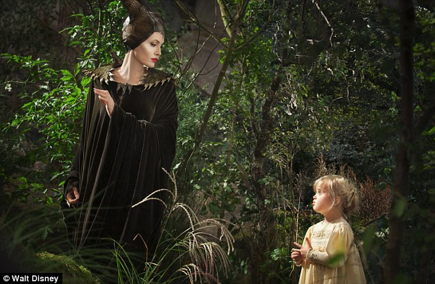 First look: Angelina Jolie and daughter Vivienne in a still from the new Disney movie Maleficent