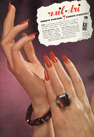 Red nails were popular in the 1980s