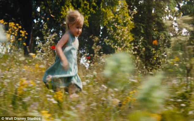 Carefree: A trailer shows Vivienne, then four, running through a flower meadow; she plays the young Princess Aurora