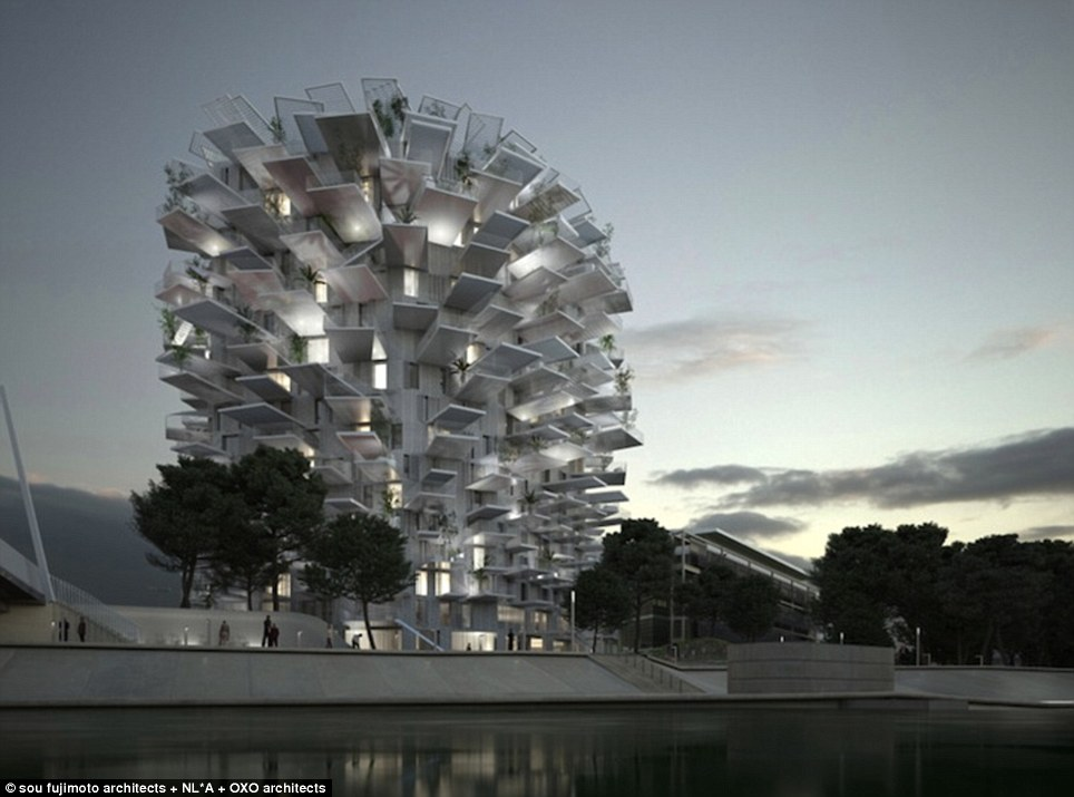 The White Tree will become Montpellier's second folly structure because if it's extravagant form and ability to challenge the traditional notions of architecture