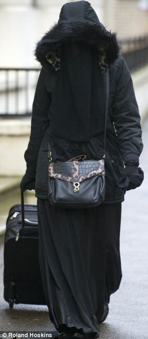 Rebekah Dawson at Blackfriars Crown court in January for another witness intimidation case where she made history for refusing to remove her veil