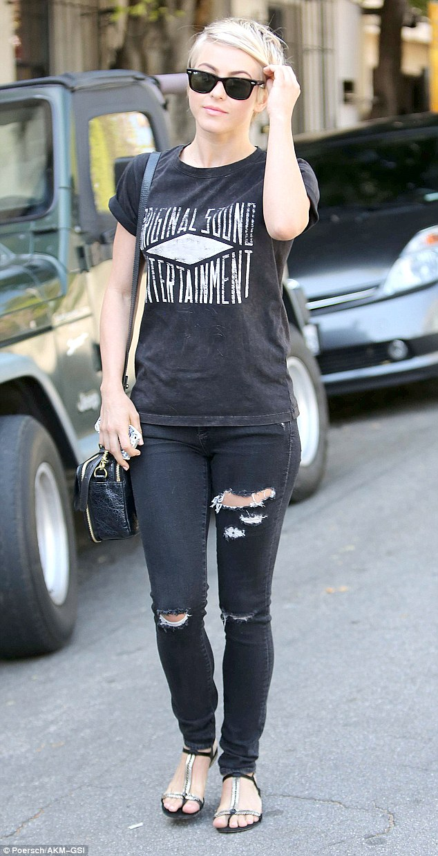 Julianne Hough Is Edgy In Torn Jeans As She Emerges From