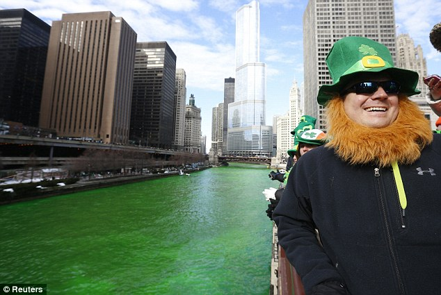 Revelers: The city's Irish and not so Irish were out in force to celebrate