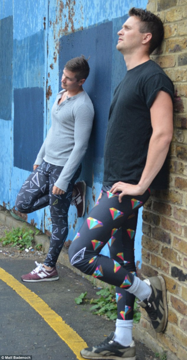 New trend? Meggings, male leggings made from lycra, could become a seasonal staple thanks to two designers who are trying to make them mainstream