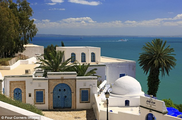 A seafront wonder: The artists' village of Sidi Bou Said has long lured visitors to Tunisia