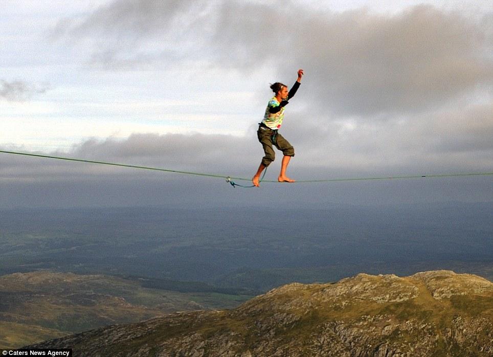 Guy Jumps Really High Really