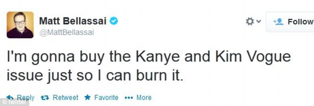 Matt Bellasai says that he will only buy the magazine if he can set it on fire