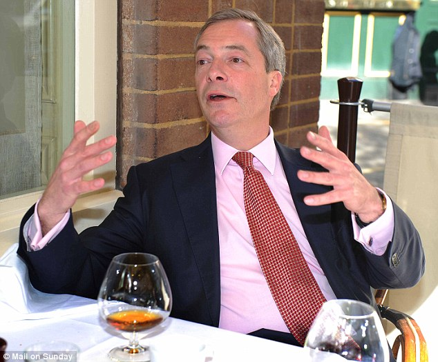 Chatting in between pints, over balloons of brandy, Nigel Farage unleashes his torrent of rage of people who have wronged him in ope way or another