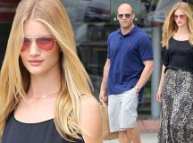 Rosie Huntington-Whiteley goes bra-less at lunch with ...