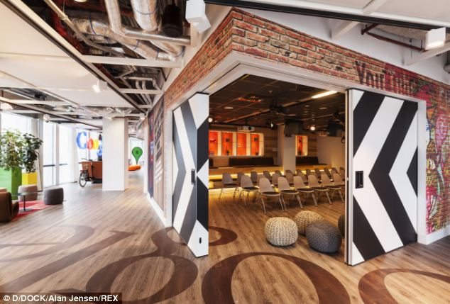 Googles new Amsterdam office has waffles hanging from the
