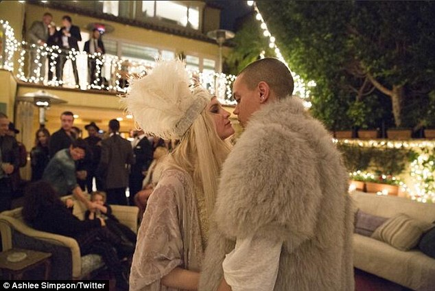 Ashlee Simpson with Evan Ross and Jessica Simpson at engagement party  Daily Mail Online