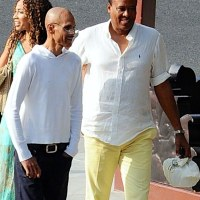 Conrad Murray and Janet Jackson's ex-husband James DeBarge enjoy double-date lunch in Beverly Hills