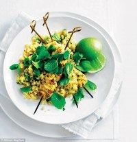 Donna Hay: Thai green curry chicken skewers with ginger ...